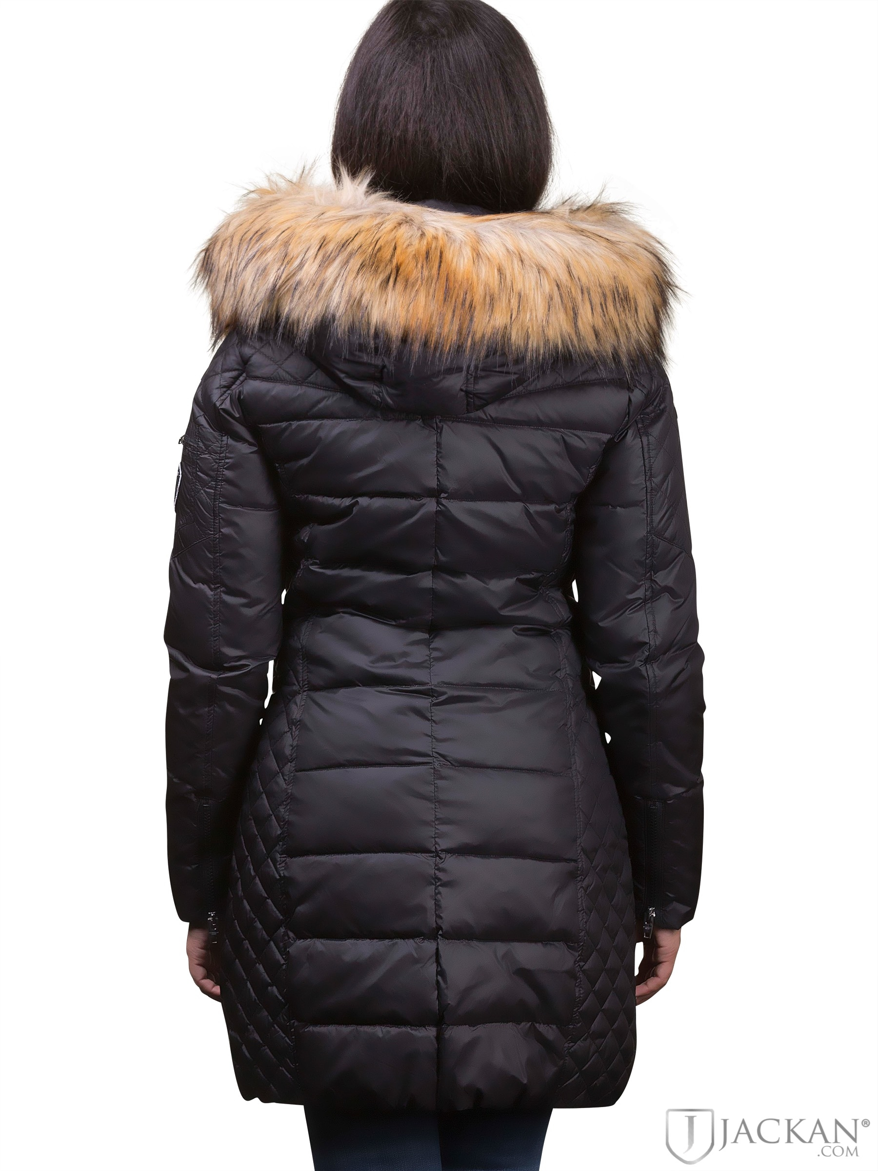 Rock And Blue Damjackor & Beam Fake Fur (SvartNatur) Svart