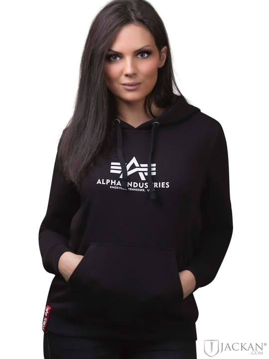 New Basic Hoodie i svart från Alpha Industries | Jackan.com