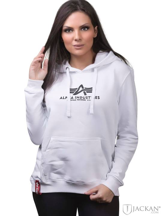 New Basic Hoodie i vit från Alpha Industries | Jackan.com